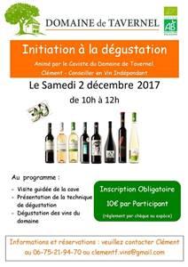 Initiation à la dégustation - Domaine de Taverrnel