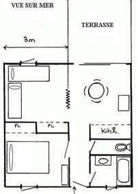 Villa / 6 personnes / MAISONS DE LA MER II