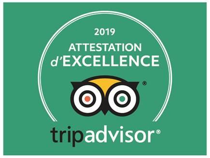 Mobilboard Capbreton obtient l'Attestation d'Excellence 2019 TripAdvisor
