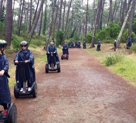 Bachelor party - 18 girls in Segways in the Pignada forest in Anglet