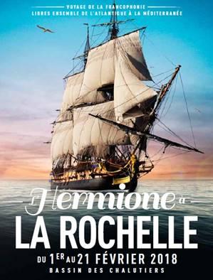 L'Hermione à La Rochelle du 01 au 21 février 2018