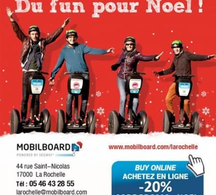 OFFRE SPÉCIALE - 20% SUR LA CARTE CADEAUX MOBILBOARD