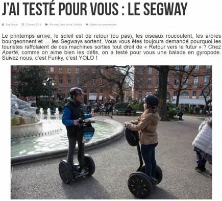 Aparté a testé pour vous le gyropode à Toulouse !