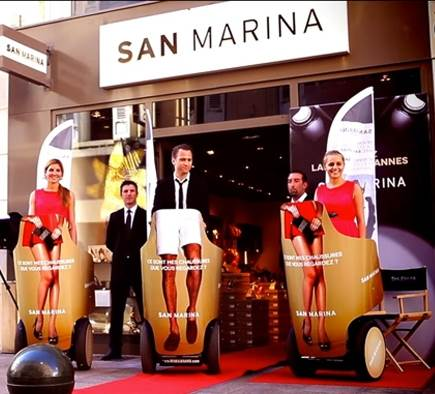 Festival de Cannes: The video of the Segway street marketing operation for San Marina!