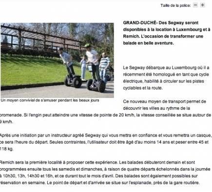 Mobilboard Luxembourg dans la presse - Le Quotidien