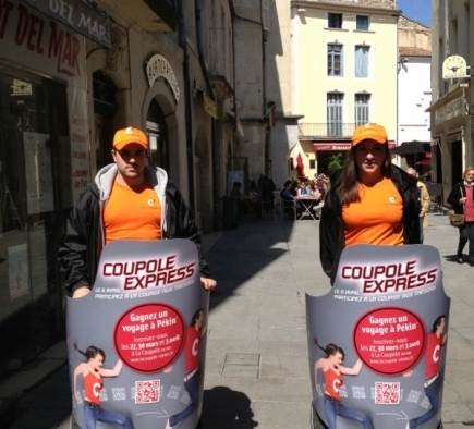 Street Marketing Coupole Express