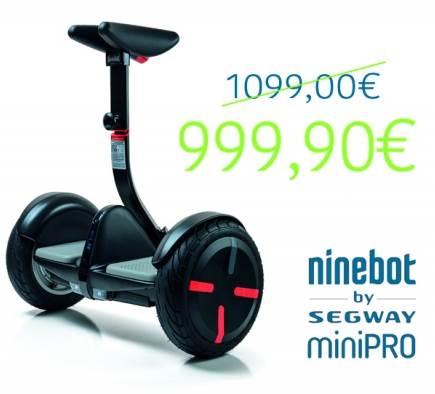 Niedrigere Preise für den Ninebot miniPRO von Segway: 999,90 € statt 1.099,00 €