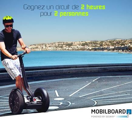 Win a Segway Segway circuit for 2 people!