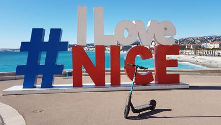Electric scooters: voted the best way to visit Nice.