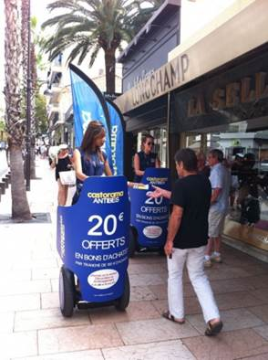 Campagne de street marketing pour CASTORAMA Antibes