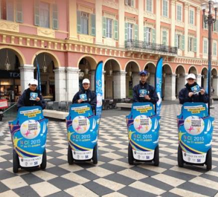 The European Masters Games 2015 are riding Segways!