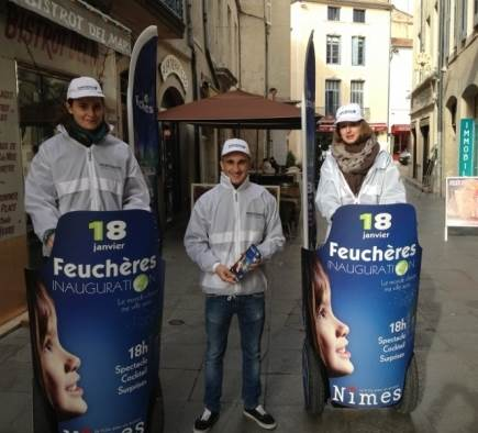 Street Marketing Inauguration Avenue Feuchères