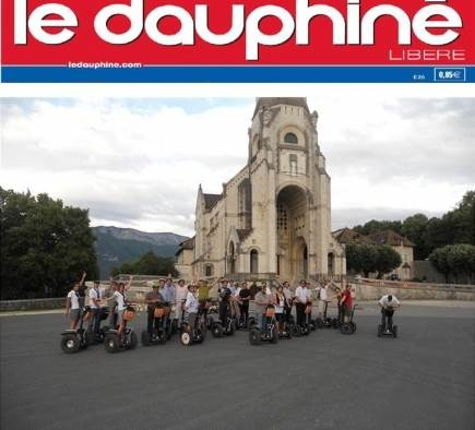 Mobilboard Annecy makes the front page of the Dauphiné Libéré