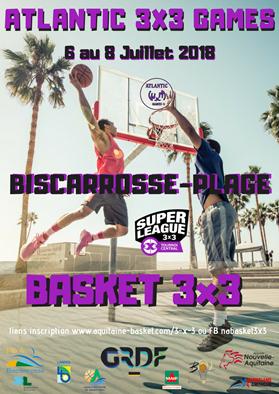 ATLANTIC 3X3 GAMES à Biscarrosse - Tournoi de Basketball