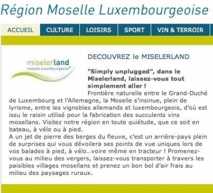 Partenariat avec l'Office Régional de Tourisme Région Moselle Luxembourgeoise
