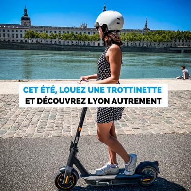 Pendant les vacances d'été à Lyon, louez une trottinette électrique !