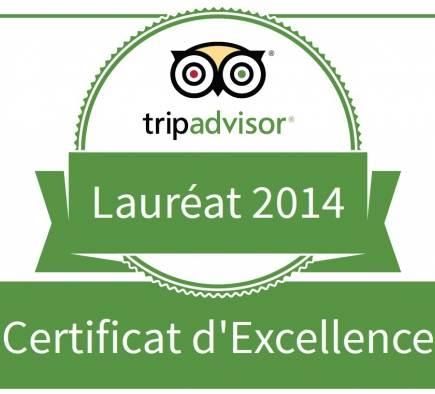 L'agence Mobilboard Paris-Invalides reçoit le Certificat d'Excellence 2014 de TripAdvisor !