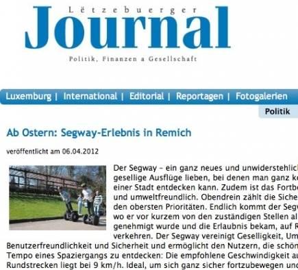 Mobilboard Luxembourg dans la presse - Lëtzebuerger Journal