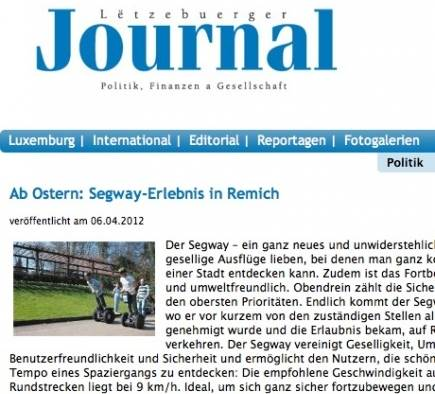Mobilboard Luxembourg in der Presse - Lëtzebuerger Journal
