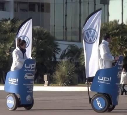 Volkswagen présente sa nouvelle UP aux cannois via une campagne de street marketing en gyropodes Segway