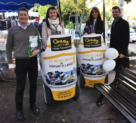 Find the photos of the street marketing operation for Century 21!