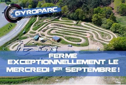Gyroparc : Fermé exceptionnellement le mercredi 1er septembre!