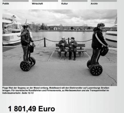 Mobilboard Luxembourg in der Presse - Lëtzebuerger Land