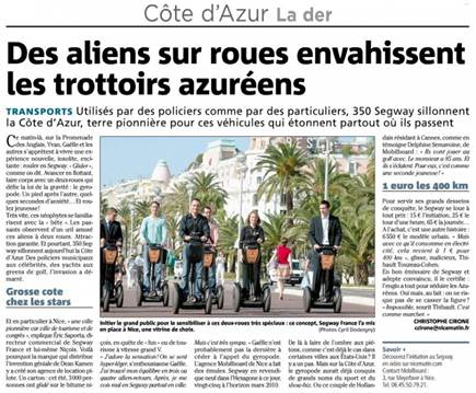 Article du journal Nice-Matin