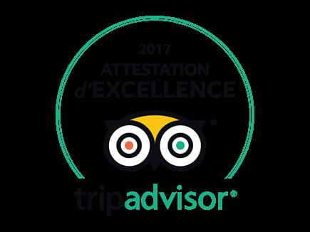 Mobilboard Capbreton obtient l'Attestation d'Excellence 2017 TripAdvisor