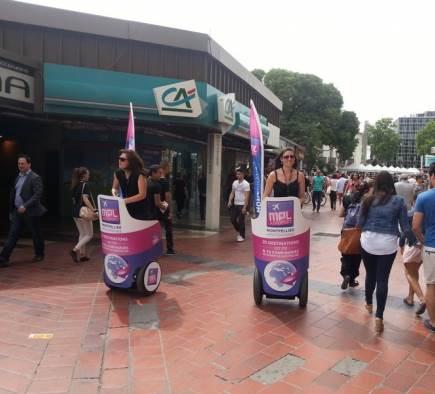 Street-Marketing-Kampagne für den Flughafen Montpellier