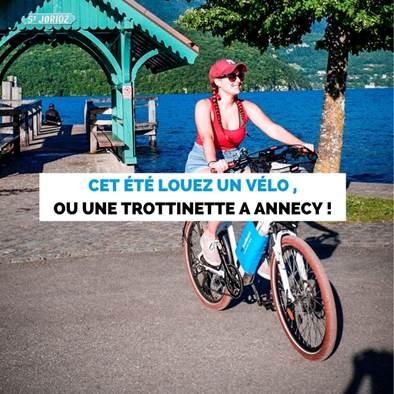 Cet été, louez un vélo ou une trottinette à Annecy !