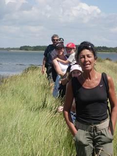 Randonnée sur l'Ile d'Arz avec Gwen