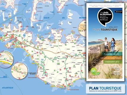 Plan de la Presqu'île de Rhuys