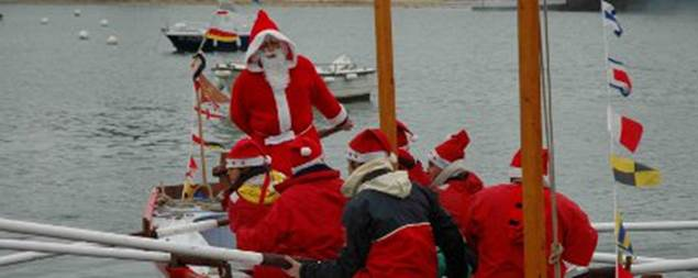 Arrivée-Père-Noël-Port-Navalo-Arzon-Presqu'île-de-Rhuys-Golfe-du-Morbihan-Bretagne sud