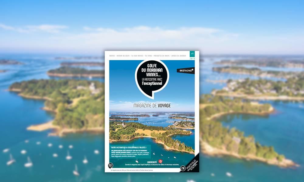 Magazine de voyage - Golfe du Morbihan - Vannes - Presqu'île de Rhuys - Landes de Lanvaux - Bretagne Sud