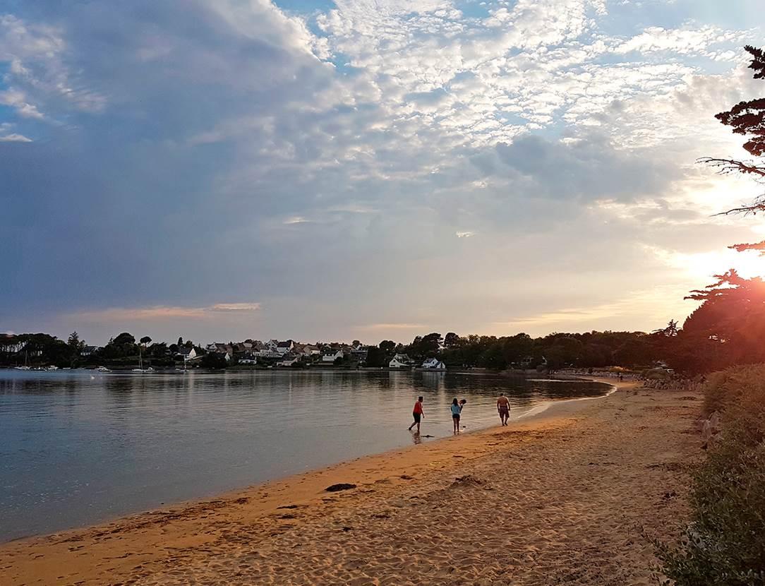 Une belle soirée à la plage