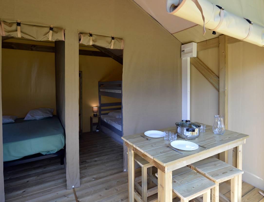Bungalow Toilé Camping Le Tindio