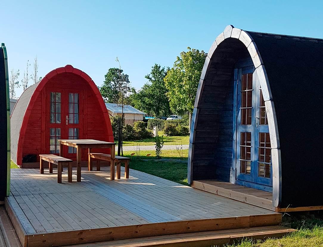 Nouveaux pods pour randonneurs au Camping ker Eden
