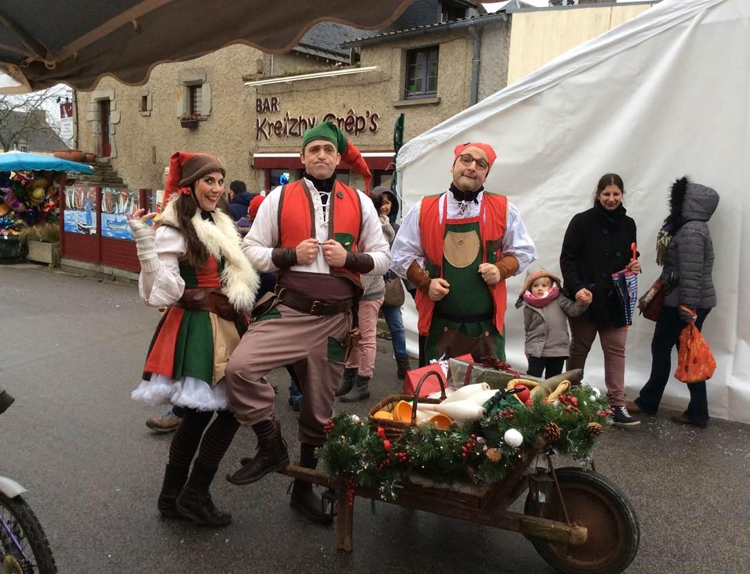 Marché de Noël-place de la Mairie-Grand-Champ-Golfe-du-Morbihan-Bretagne-Sud