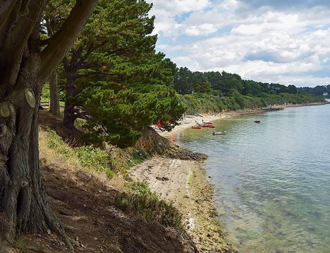 Plage Toulindac-Baden-Golfe-du-Morbihan-Bretagne sud