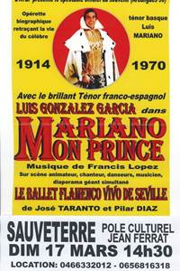 "Spectacle ""Mariano mon Prince"""
