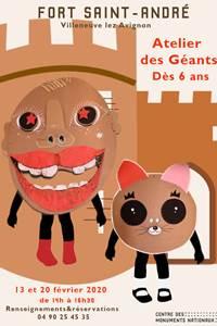 Carnaval au Fort Saint-André : Atelier des Géants