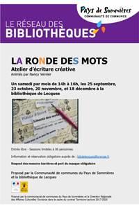 """Ateliers d'écriture créative """"La Ronde des mots"""""""