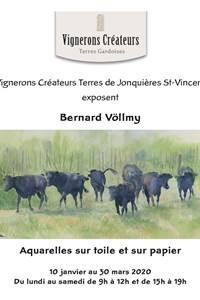 Exposition de Bernard Völlmy - Aquarelles sur toile et sur papier