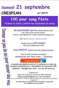 100 pour sang Festa