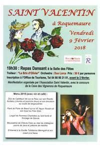 Saint Valentin à Roquemaure : Repas dansant