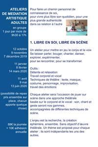 """Atelier """"Libre en soi, libre en scène"""" - Théâtre"""