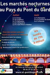 Les marchés nocturnes au Pays du Pont du Gard