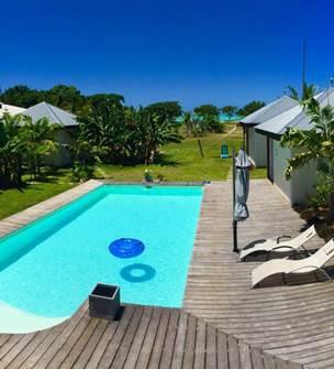 Poé Côté Lagon - Accommodation in bungalows