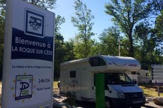 Aire  de Service et Repos à La Roque sur Cèze
